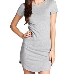 SHEIN: DOLPHIN HEMMED GREY T-SHIRT DRESS